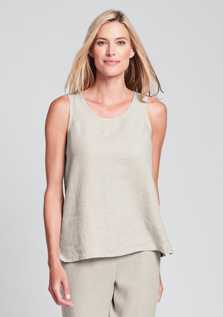 fundamental tank linen tank top natural