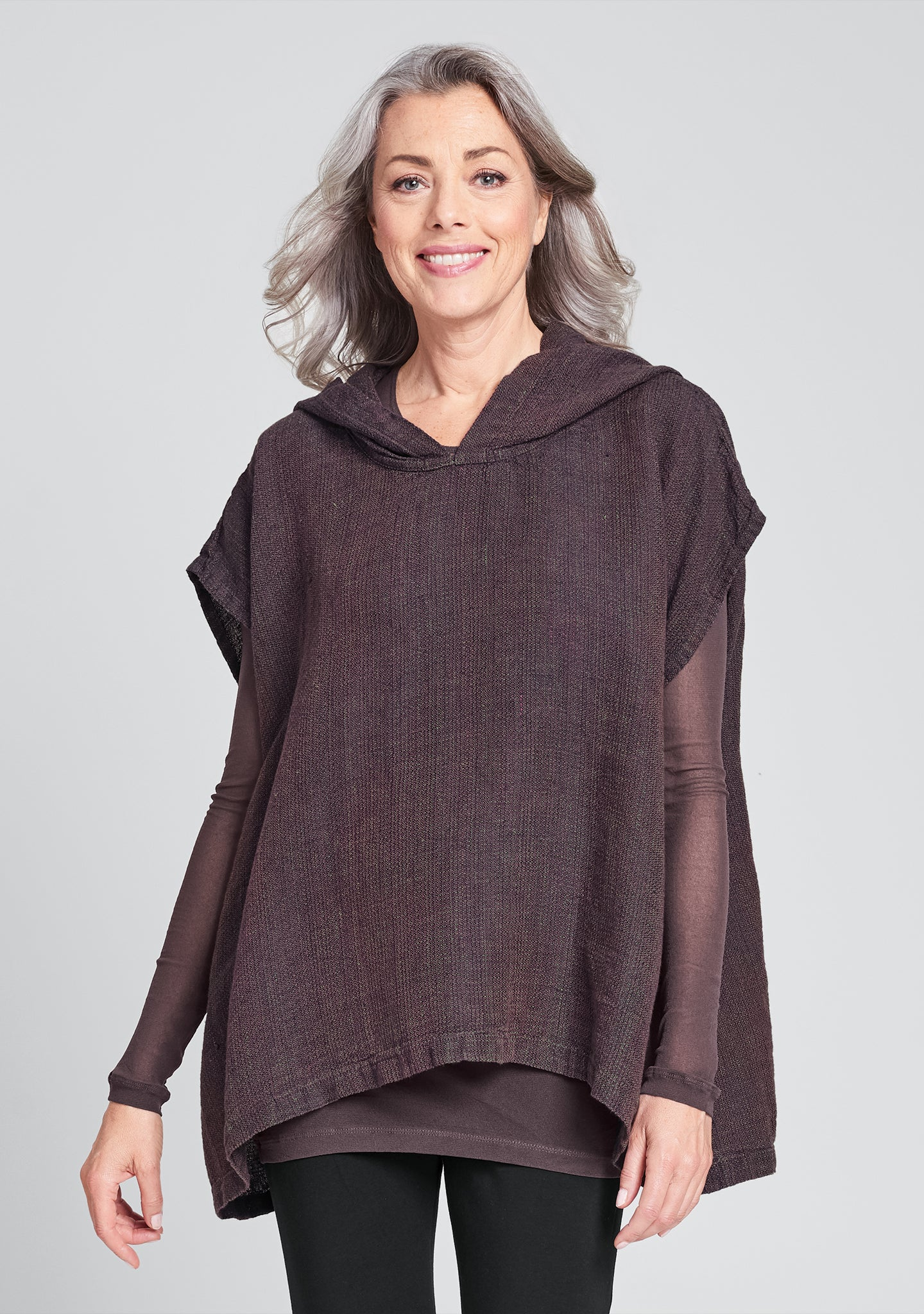 hooded pull linen hooded shirt multi