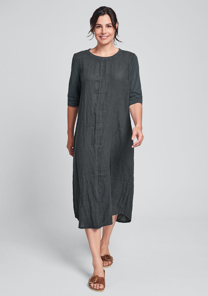 horizon dress linen maxi dress black