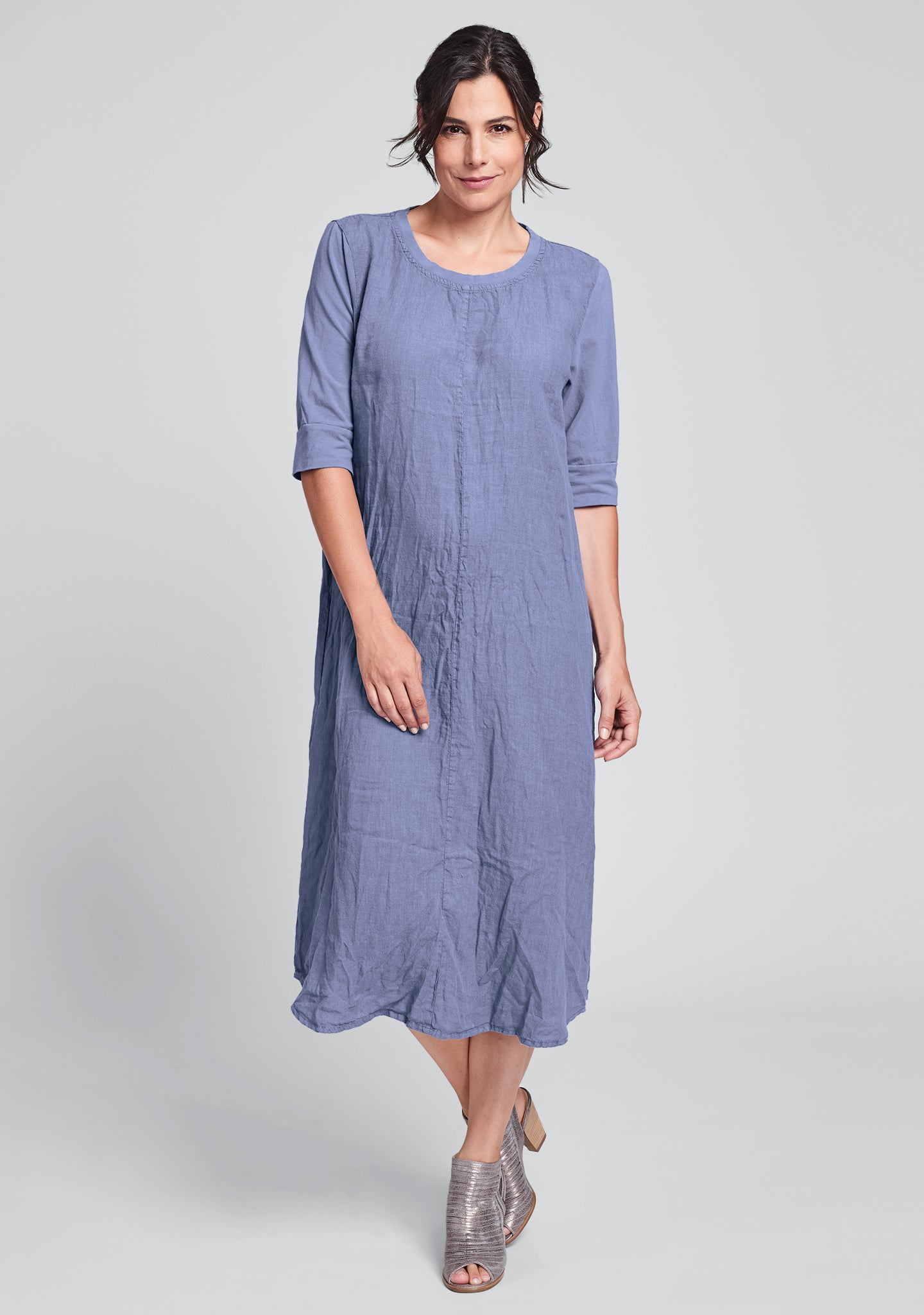 horizon dress linen maxi dress blue