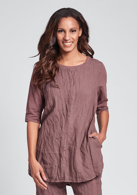 horizon tunic linen shirt purple