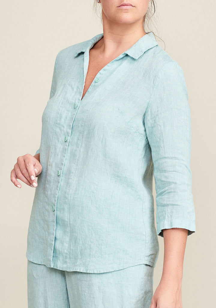 in-line blouse blue