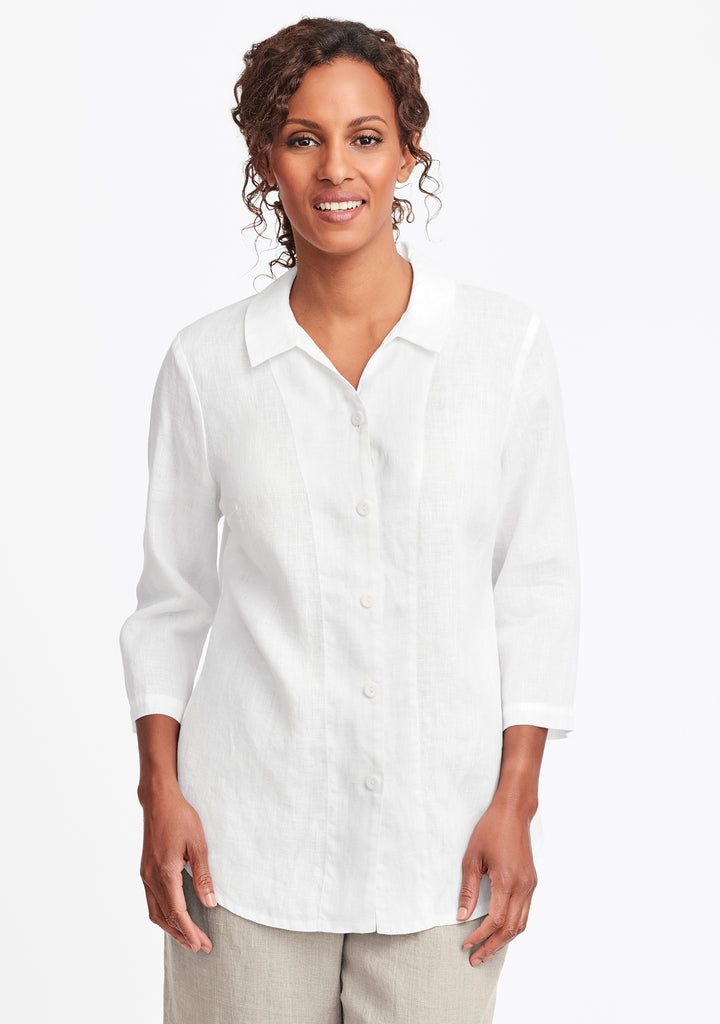 in-line blouse white