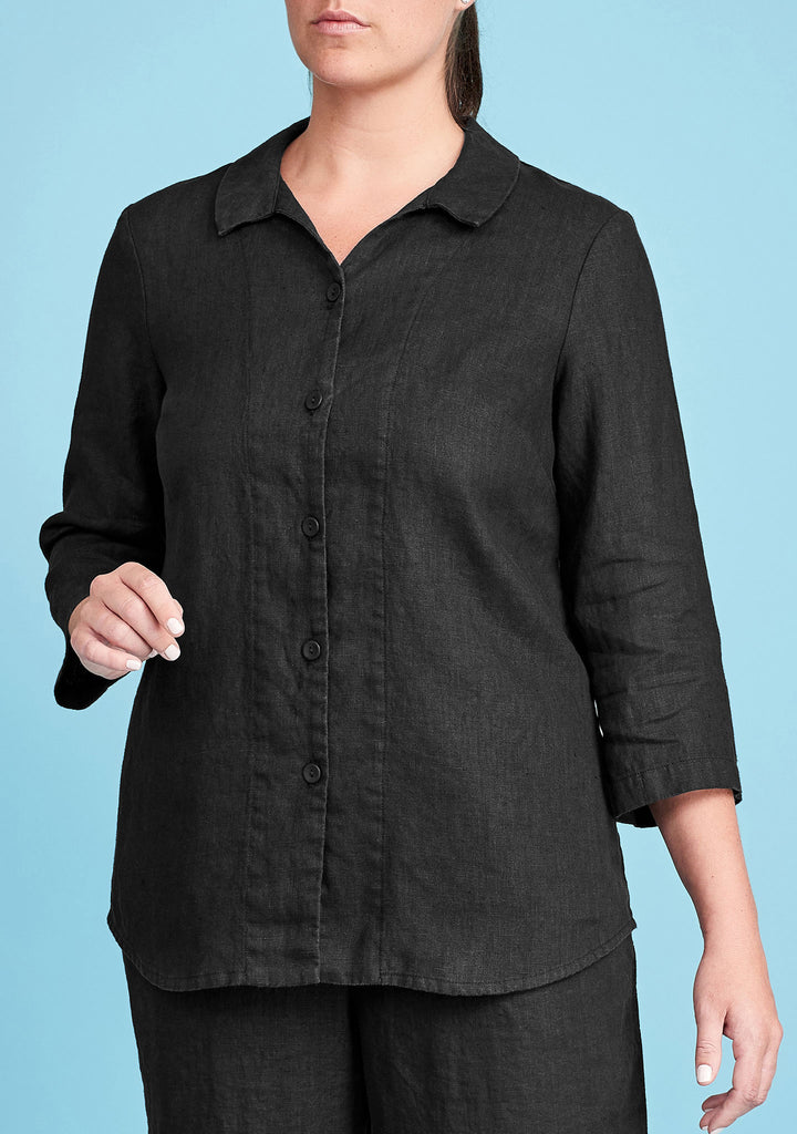 in-line blouse black