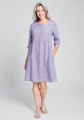 just so easy linen dress purple