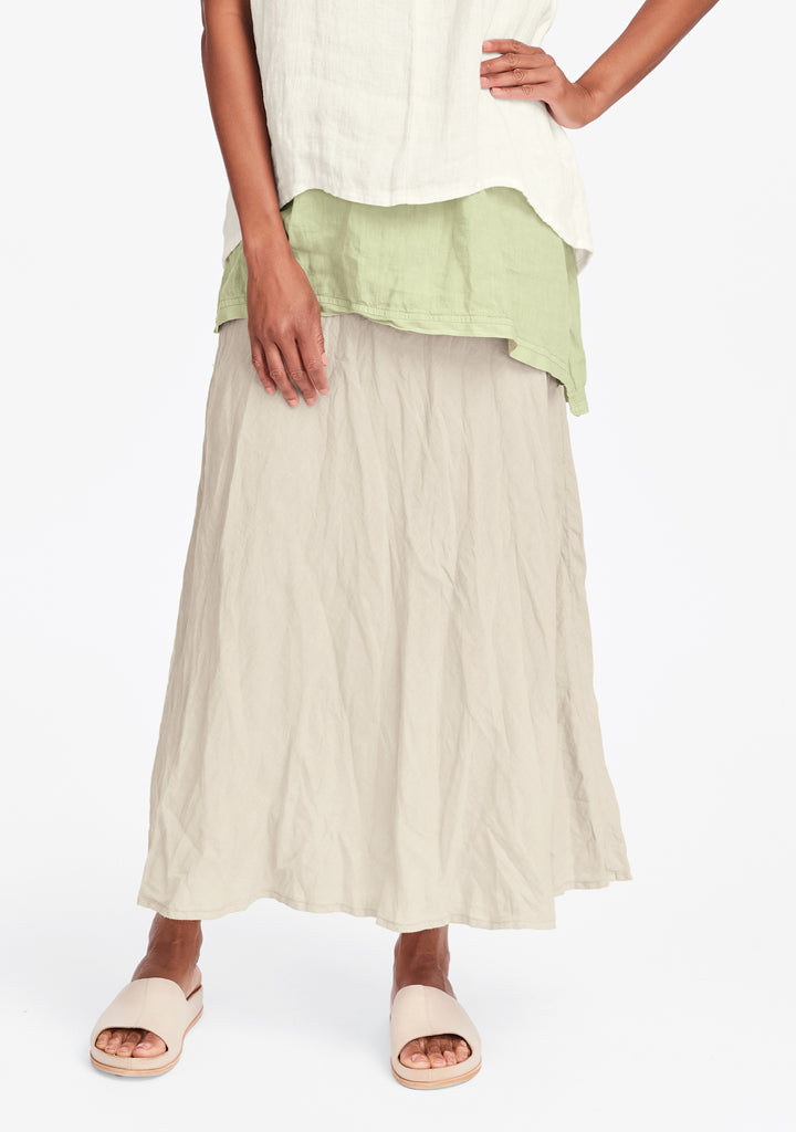 live in skirt linen maxi skirt natural