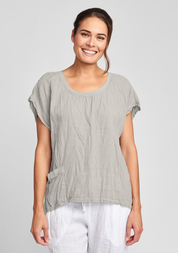 lofty top linen shirt natural