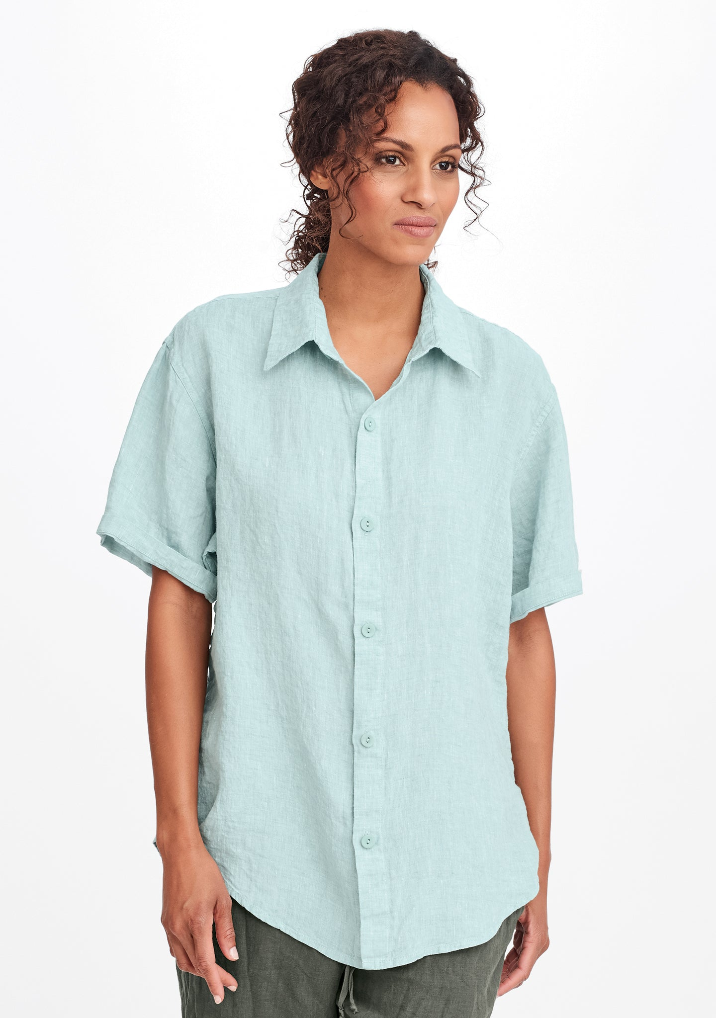 mens short sleeve shirt blue