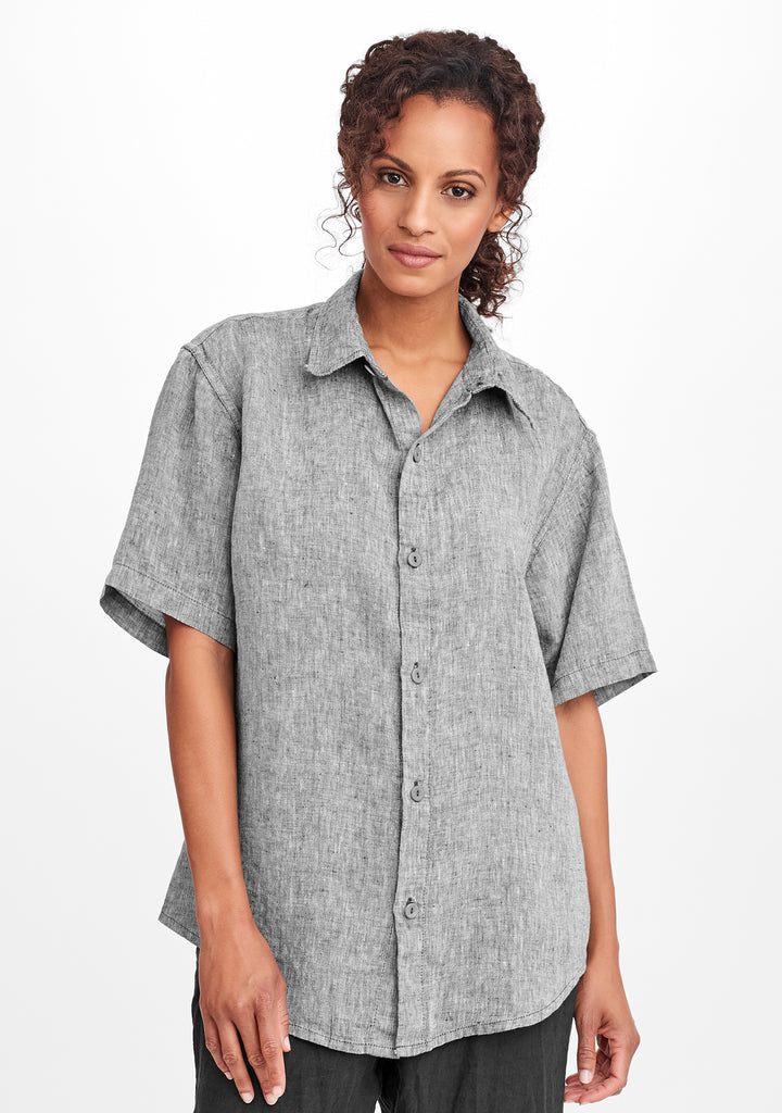 mens short sleeve shirt grey