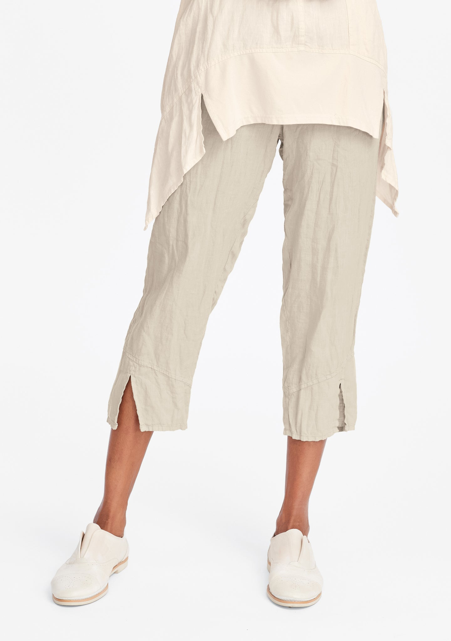 metro crop linen crop pants natural