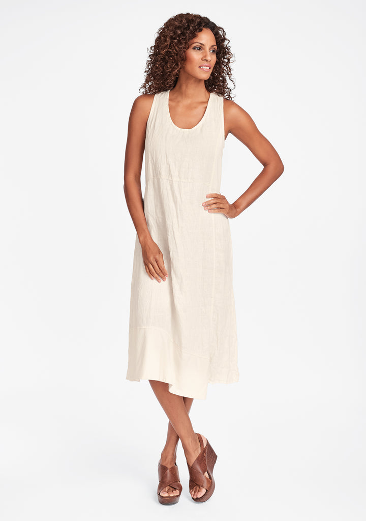midtown dress linen midi dress white