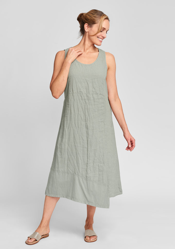 midtown dress linen midi dress green