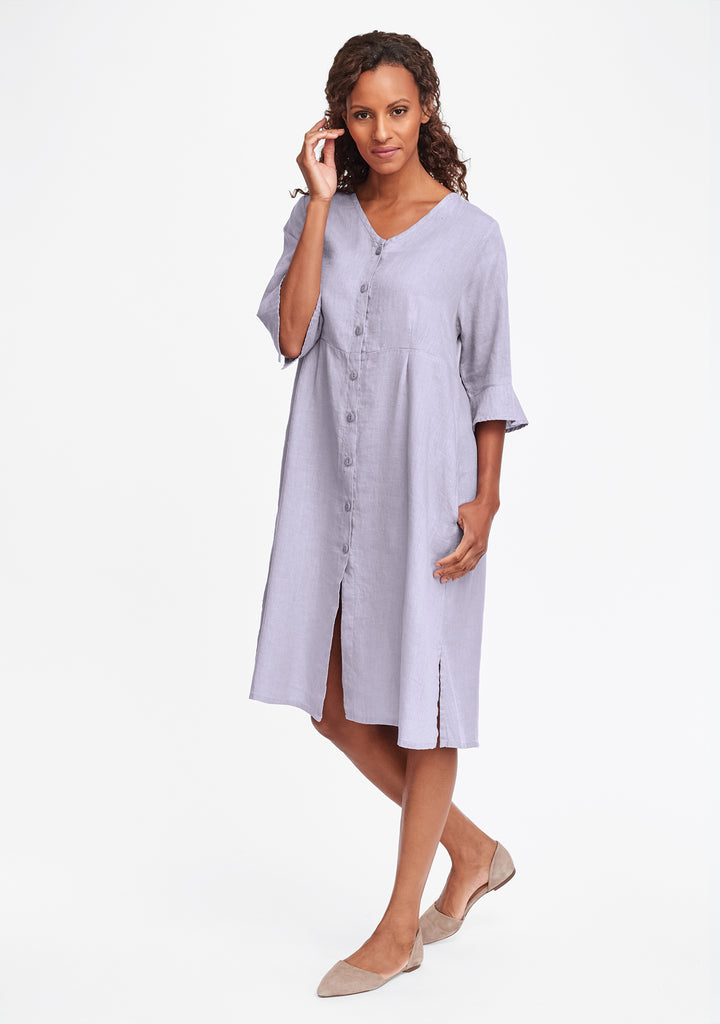 night duster linen shirt dress purple