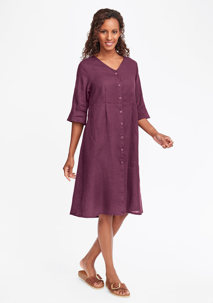 night duster linen shirt dress red