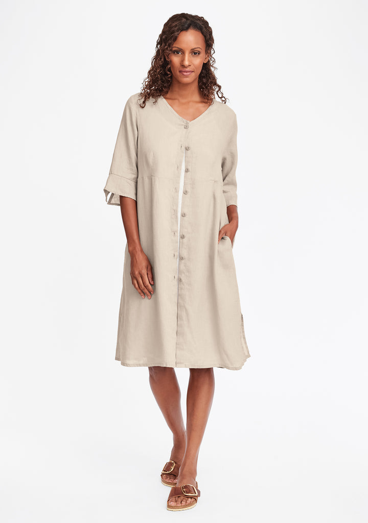 night duster linen shirt dress natural