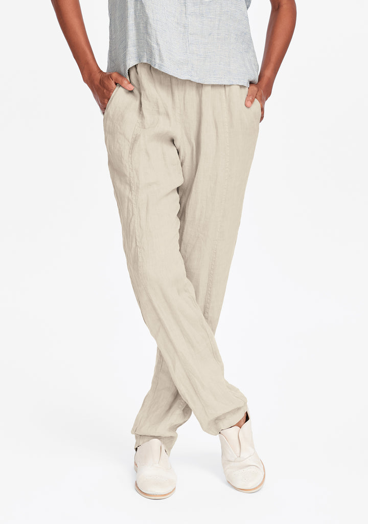 nouveau pant linen drawstring pants natural