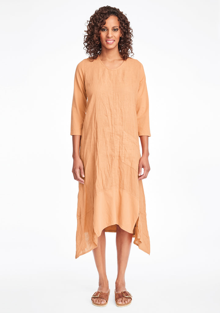 out and about dress linen maxi dress orange