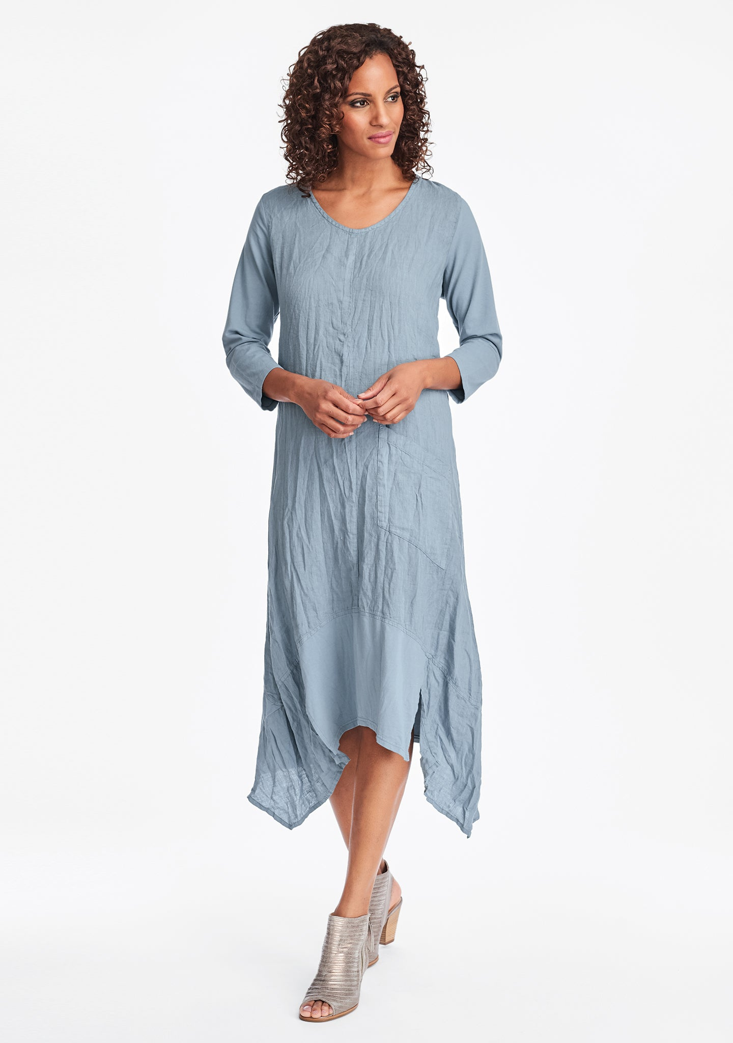 out and about dress linen maxi dress blue