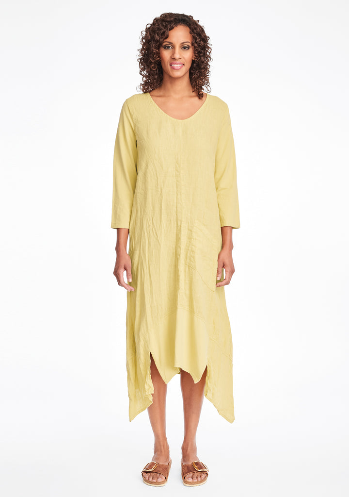 out and about dress linen maxi dress yellow