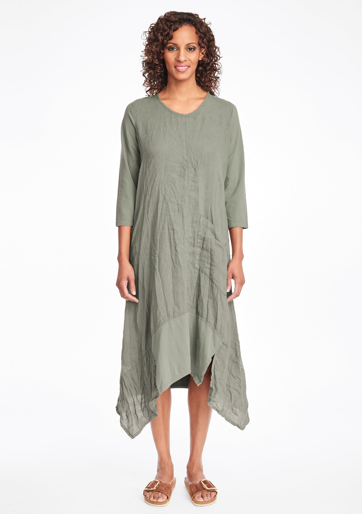 out and about dress linen maxi dress green