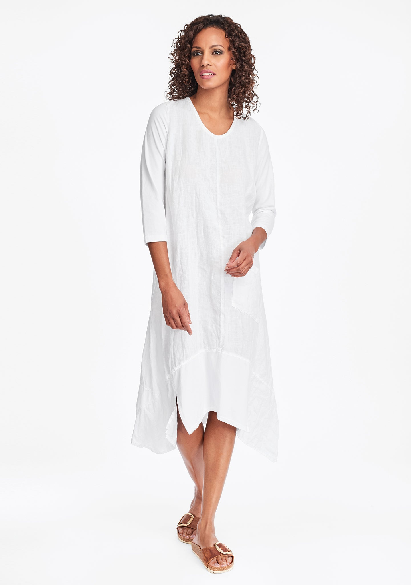 out and about dress linen maxi dress white