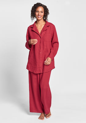 pajama set red