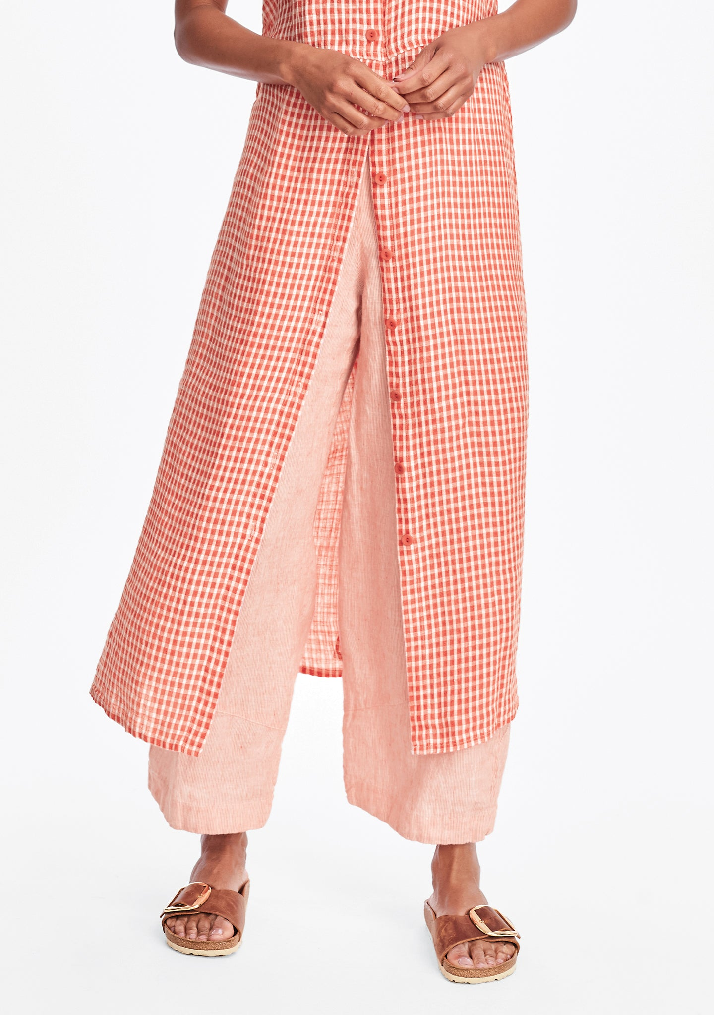 pants for all linen pants red