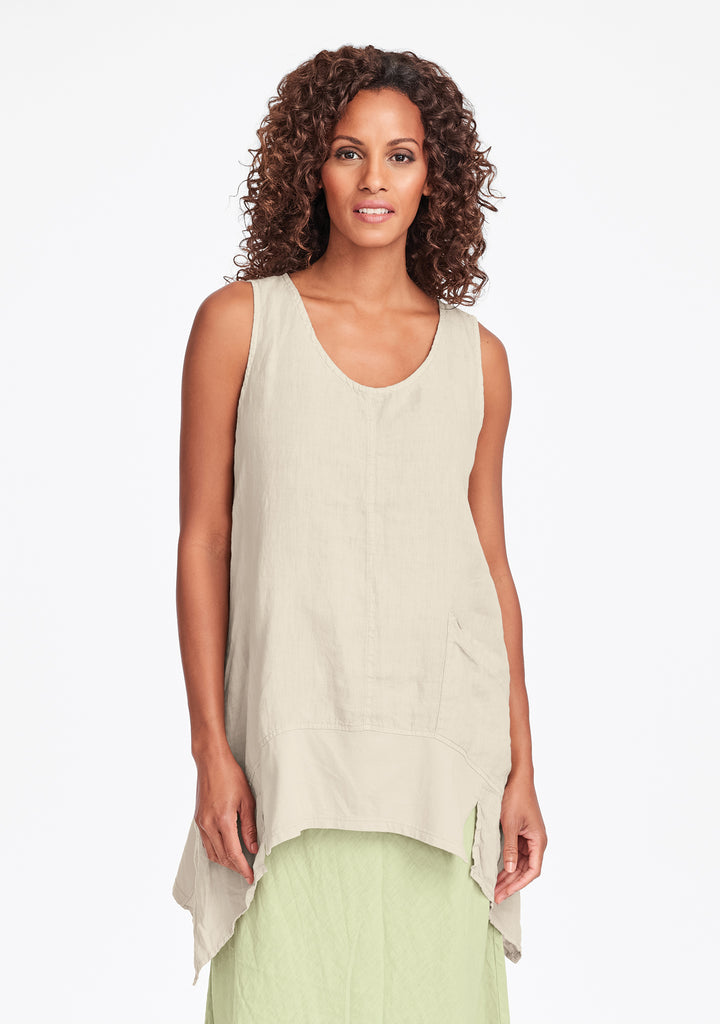 park tunic linen tank top natural