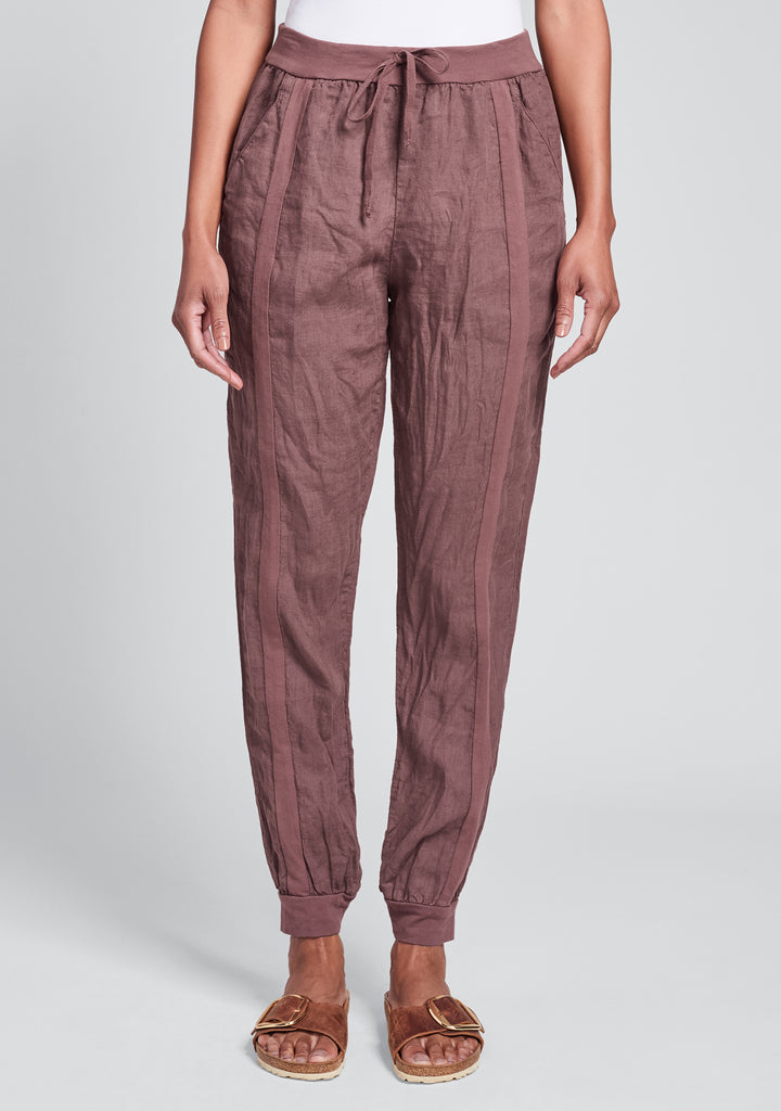patriot pant linen drawstring pant purple