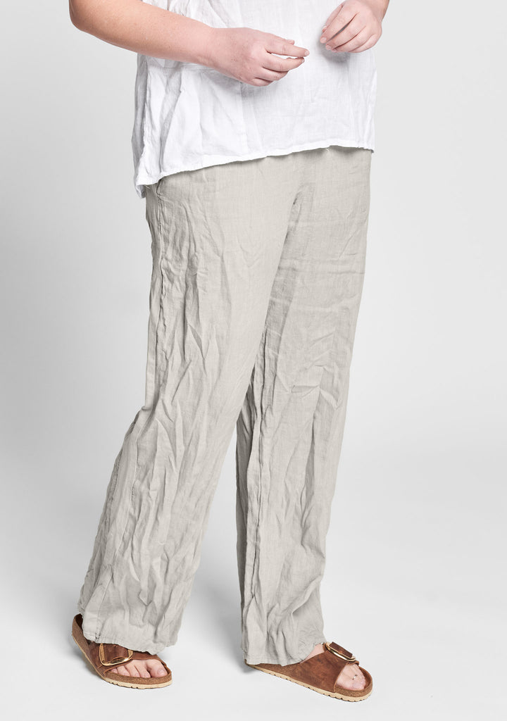 plaza pant linen drawstring pants natural