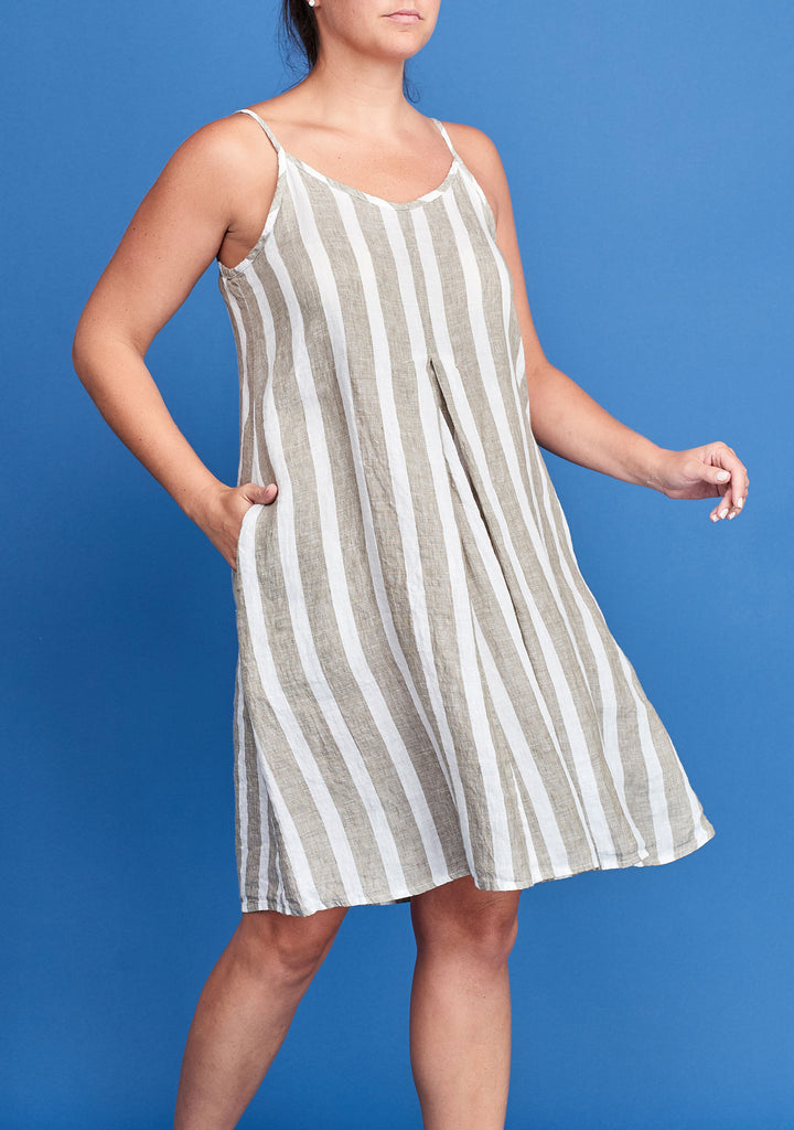 pleated dress natural