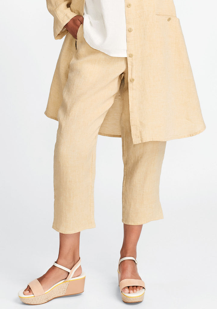 pocketed ankle pant yellow