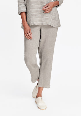 pocketed ankle pant natural