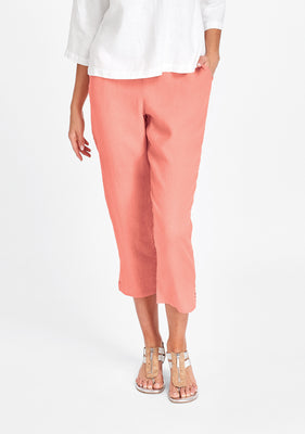 pocketed ankle pant pink