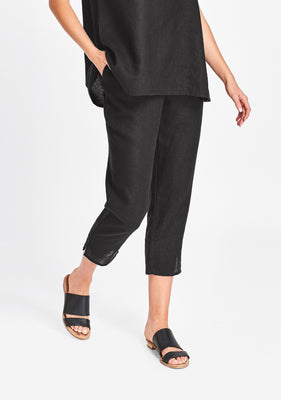 pocketed ankle pant black