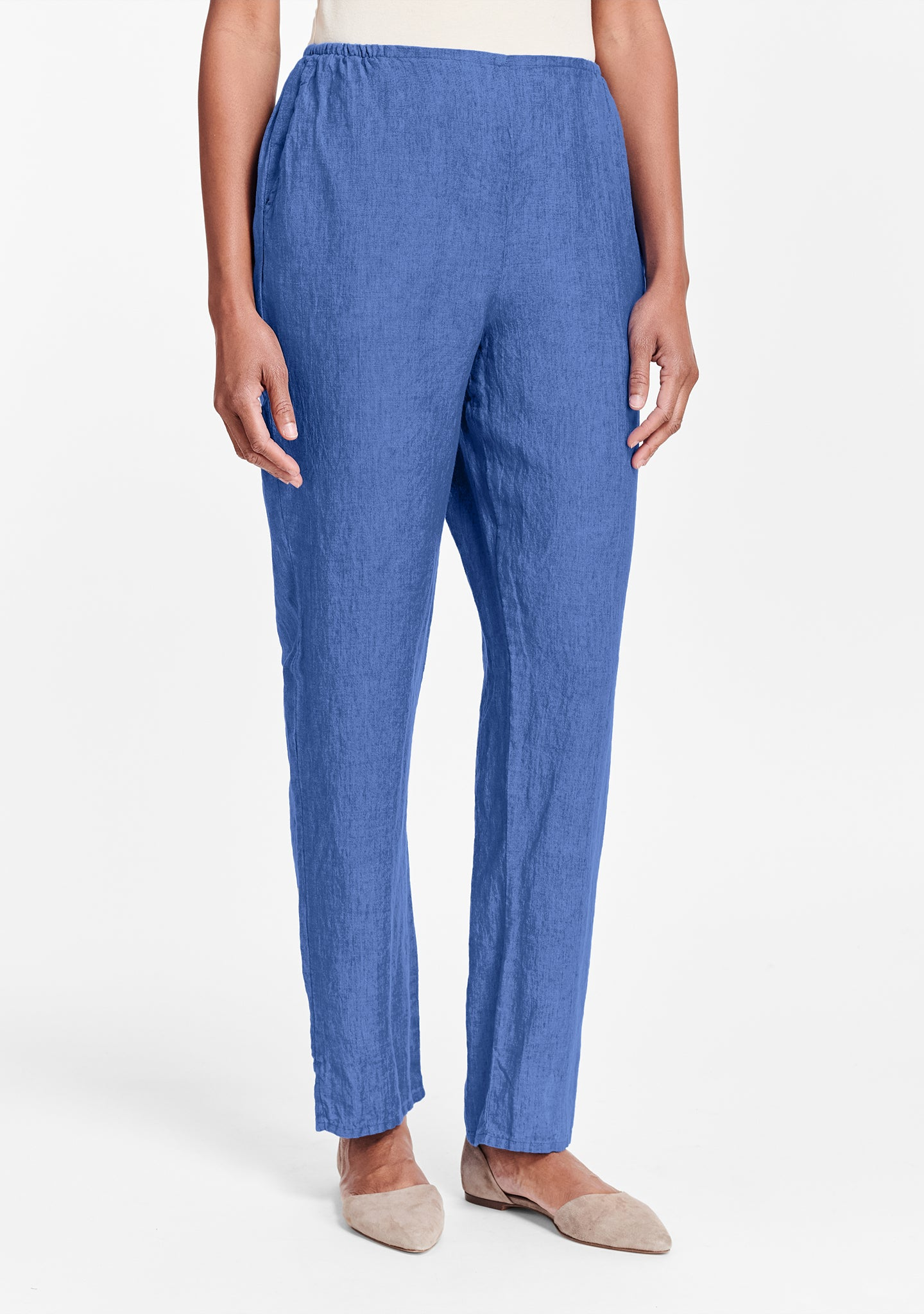 pocketed social pant blue