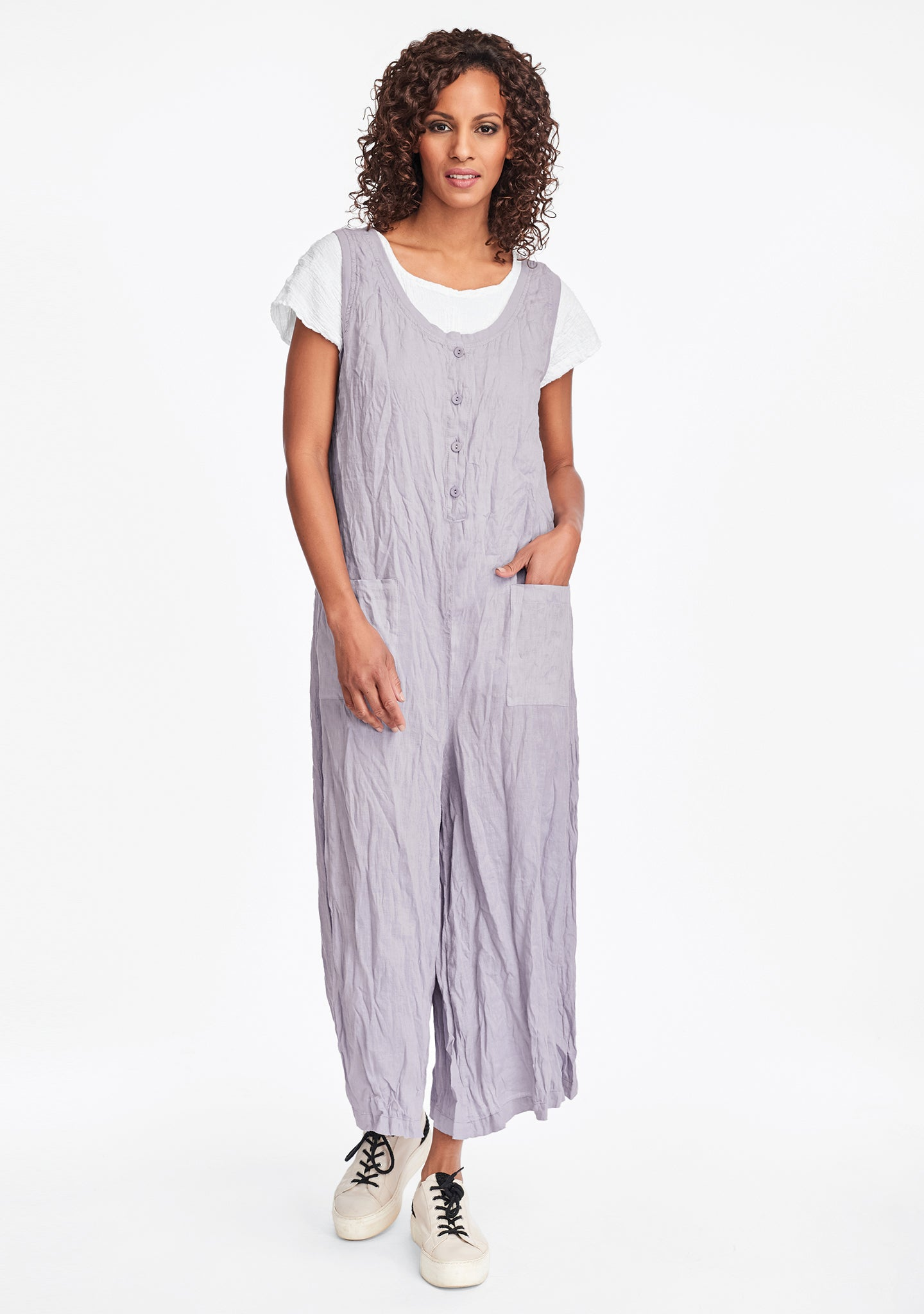 live in jumpsuit linen jumpsuit purple