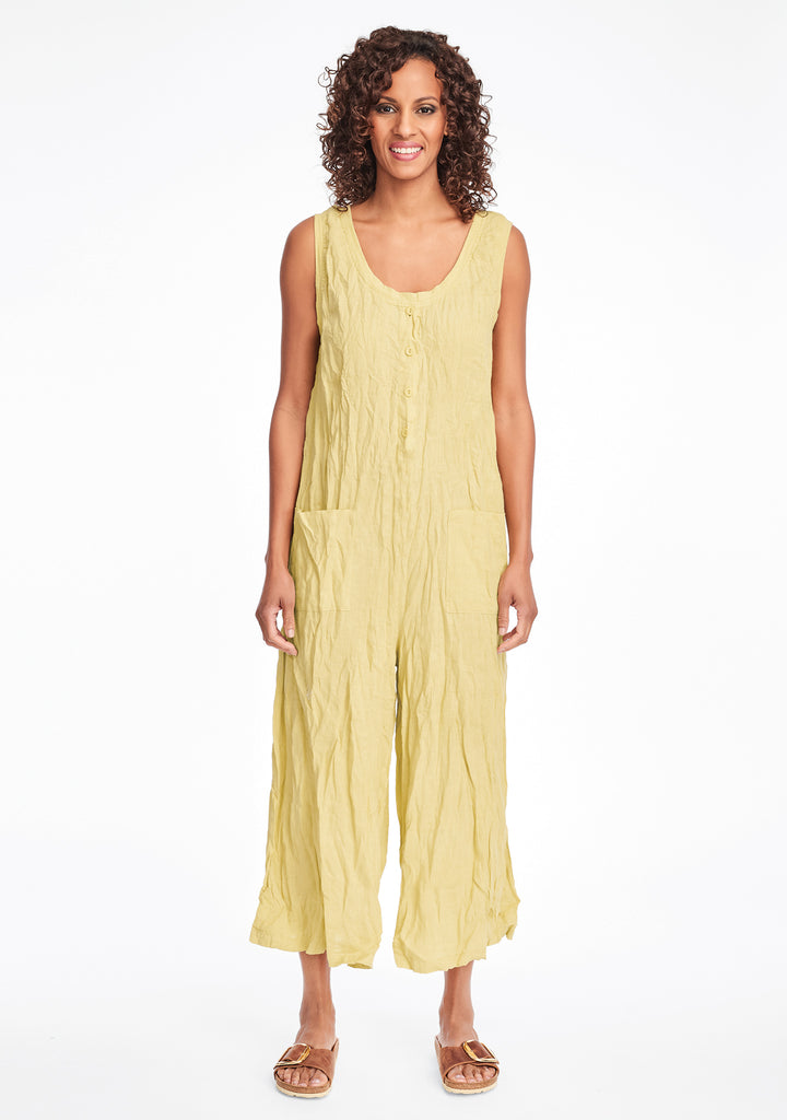 live in jumpsuit linen jumpsuit yellow