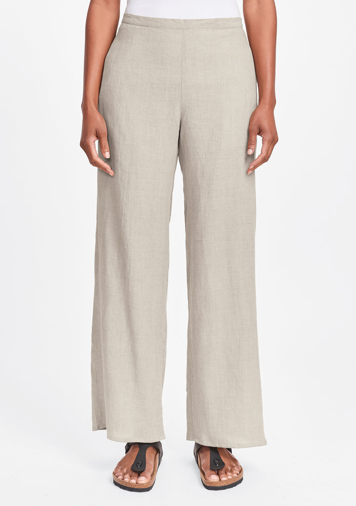 refreshed pant wide leg linen pants natural