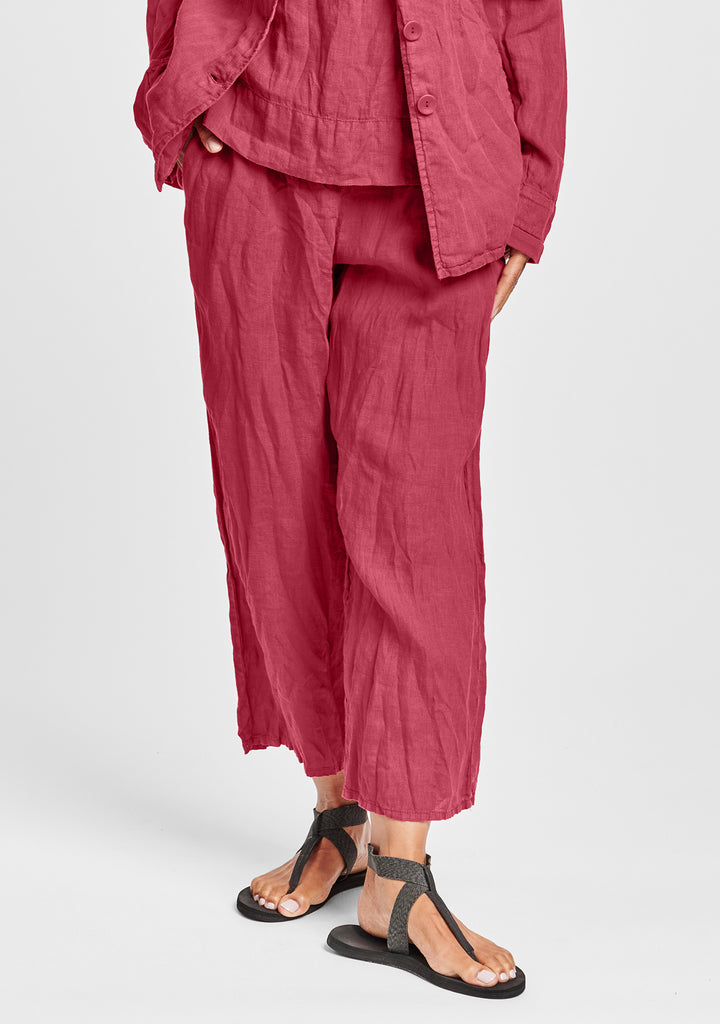 renewed flood linen drawstring pants red