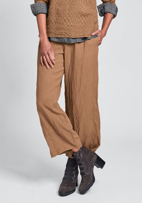 renewed flood linen drawstring pants orange