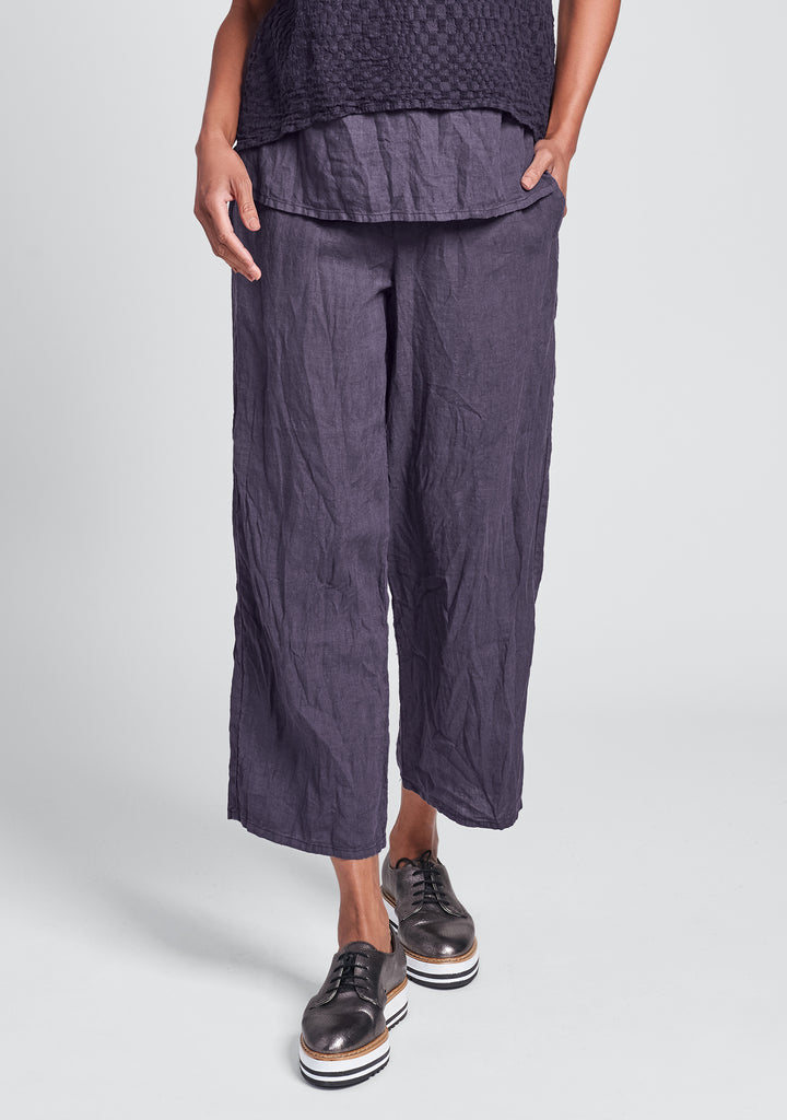 renewed flood linen drawstring pants purple