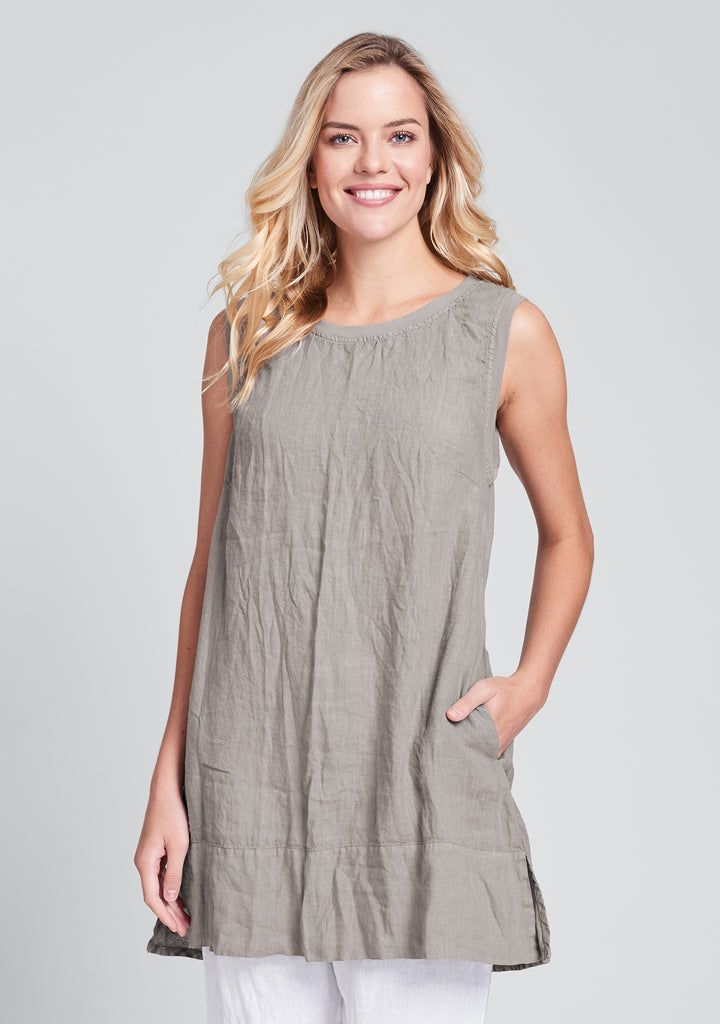 roadie tunic linen tank top natural
