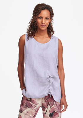 ruched tank purple