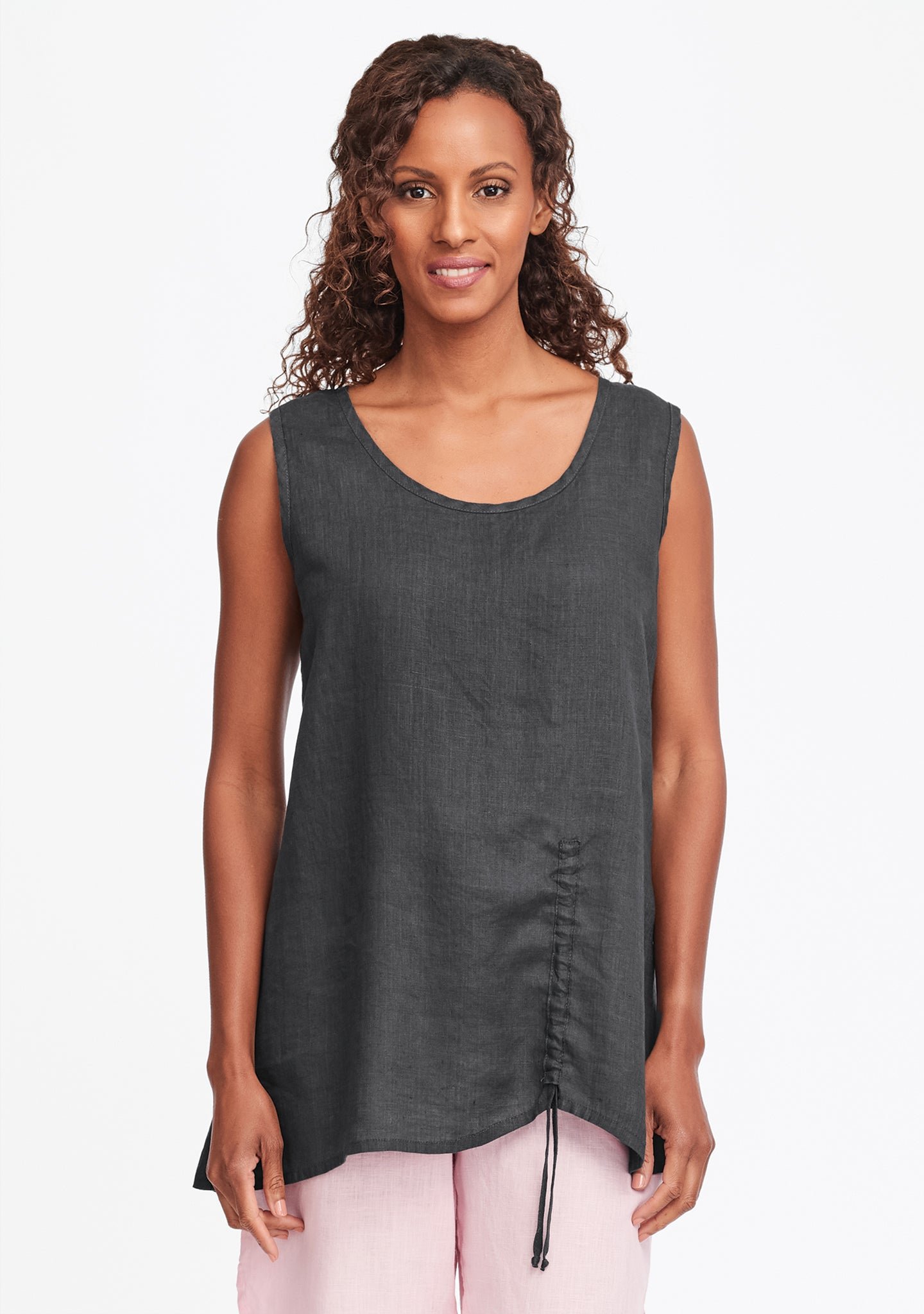 ruched tank grey