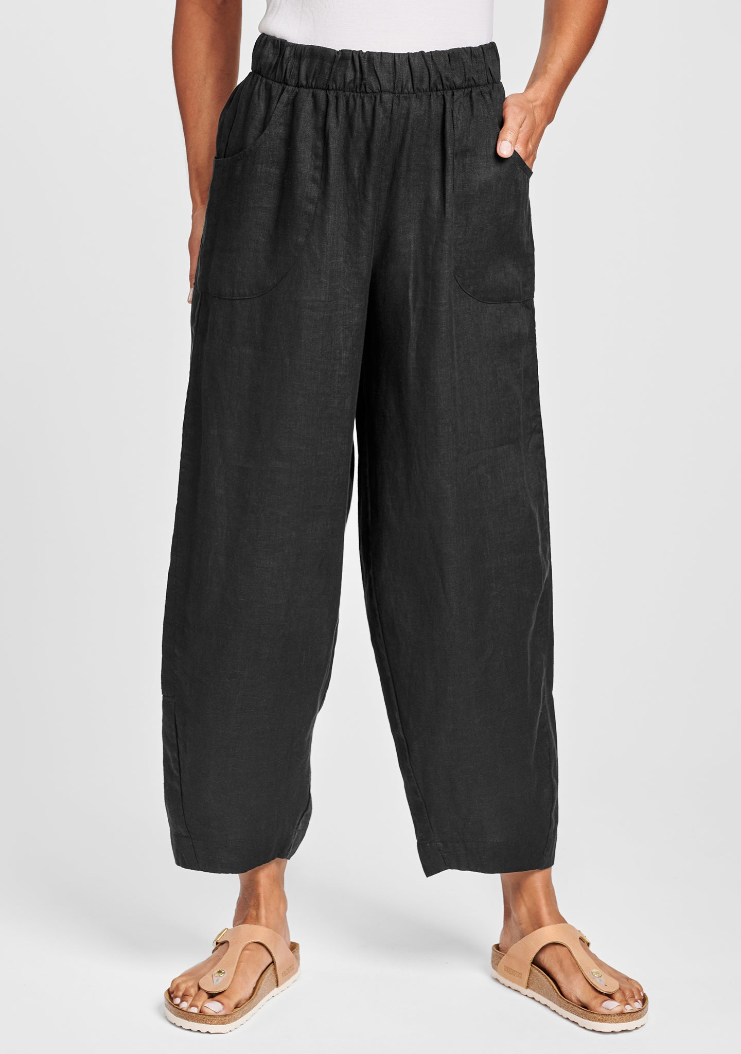 seamly pant linen pants black