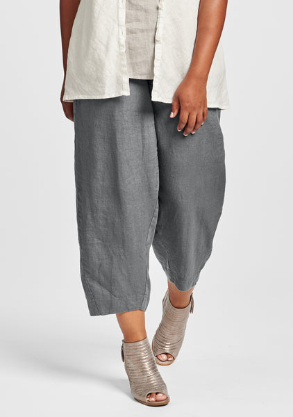 seamly pant linen pants grey