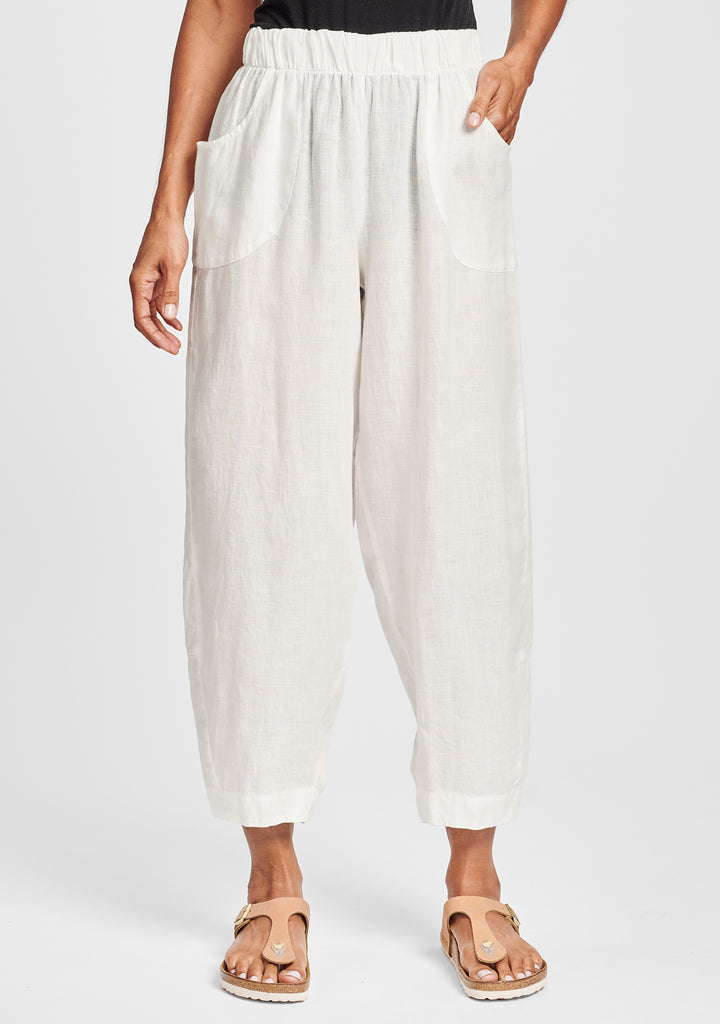 seamly pant linen pants white