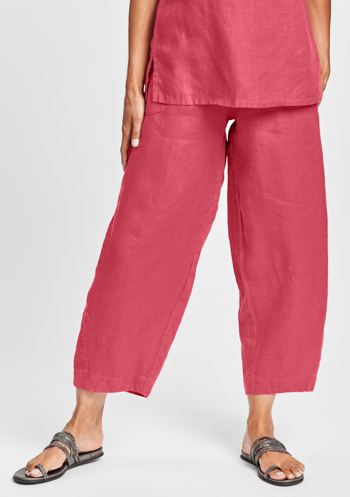 seamly pant linen pants red