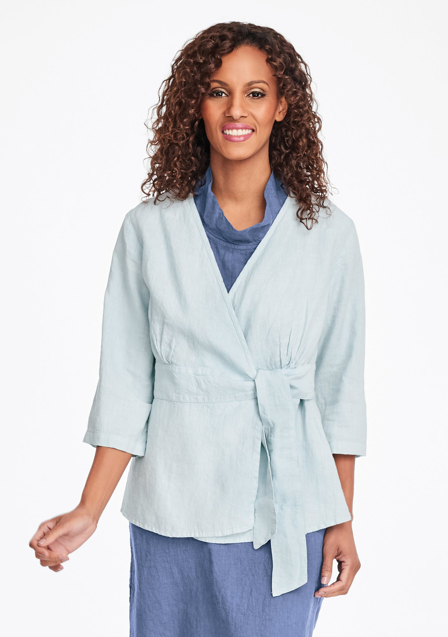secure blouse linen blouse blue